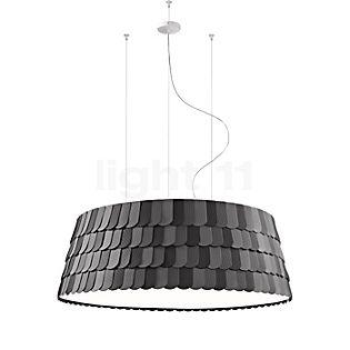 Fabbian Roofer, lámpara de suspensión cilíndrica blanco, ø60 cm