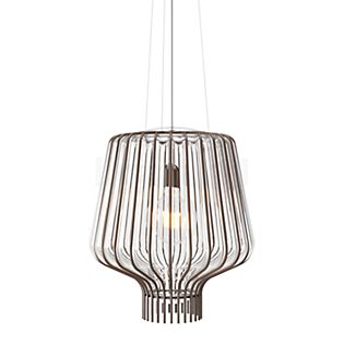 Fabbian Saya Pendant Light 40 cm transparent/rust