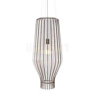 Fabbian Saya, lámpara de suspensión 31 cm blanco/óxido
