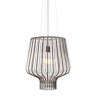 Fabbian Saya, lámpara de suspensión 40 cm blanco/óxido