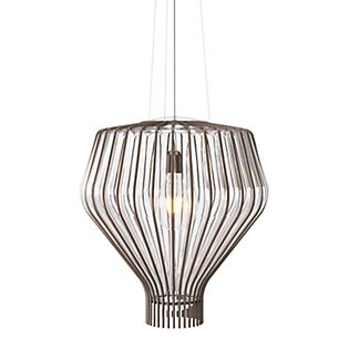 Fabbian Saya, lámpara de suspensión 48 cm transparente/óxido