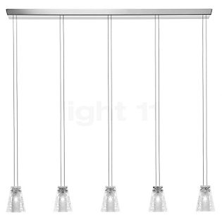 Fabbian Vicky Pendant Light 5 lamps clear