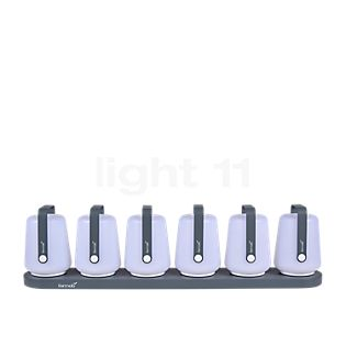 Fermob Balad 12 cm LED set of 6 incl. 6 pole charging station nutmeg