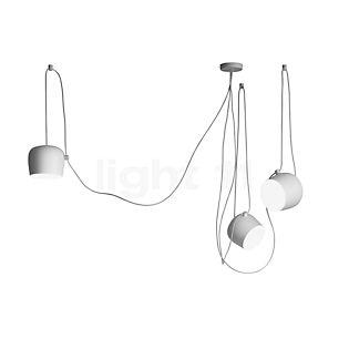 Flos Aim Sospensione LED 3-flamme hvid