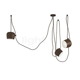 Flos Aim Sospensione LED 3-flammig braun
