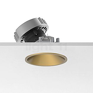 Flos Architectural Easy Kap 80 Einbauspot rund LED Wallwasher Gold, 36°
