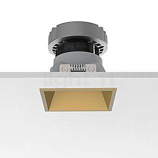 Flos Architectural Easy Kap 80 Faretto da incasso a soffitto quadrato LED dorato, 19°