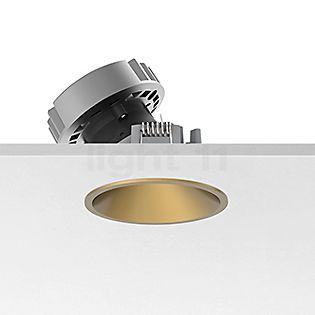 Flos Architectural Easy Kap 80 Plafondinbouwlamp rond LED Wallwasher goud, 36°