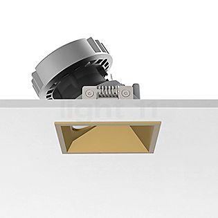 Flos Architectural Easy Kap 80 Plafonnier encastré carré LED Wallwasher doré, 30°