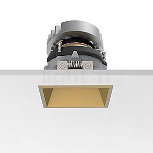 Flos Architectural Easy Kap 80 Recessed Ceiling Light square adjustable LED gold, 18°