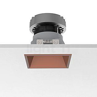 Flos Architectural Easy Kap 80, foco empotrado cuadrado  LED cobre, 52°
