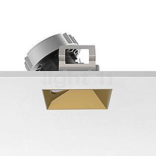 Flos Architectural Kap 80 Faretto da incasso a soffitto quadrato LED Wallwasher dorato, 30°