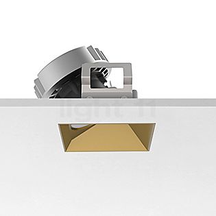 Flos Architectural Kap 80 Plafondinbouwlamp vierkant LED Wallwasher goud, 30°