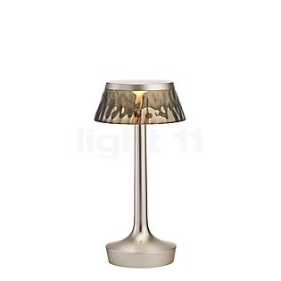 Flos Bon Jour Unplugged chrome matt with Touch Dimmer crown smoke
