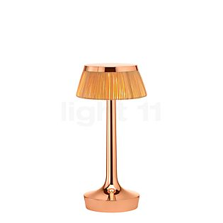 Flos Bon Jour Unplugged copper with Touch Dimmer crown Rattan