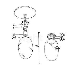 Flos Ersatzteile für Brera C Teil Nr. 1