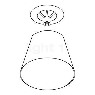 Flos Ersatzteile für KTRIBE S2 Teil 4: Fassungsträger + Außenschirm aluminium-beschichtet silber