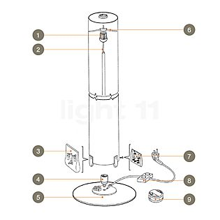 Flos Ersatzteile für Stylos Teil Nr. 1: Ring zur Befestigung Distanzstück