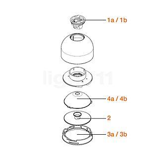 Flos Pezzi di ricambio per Wan Lampada da parete o soffitto Pezzo n°1a: portalampada G9