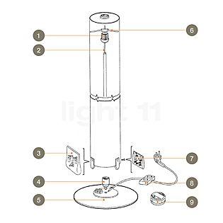 Flos Piezas de repuesto para Stylos pieza n.º 1: anillo para fijar el distanciador