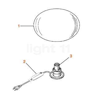 Flos Reserveonderdelen voor Glo-Ball Basic 2 Onderdeel nr. 3: fitting 190V