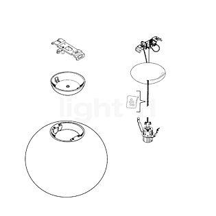 Flos Reserveonderdelen voor Glo-Ball S2 Onderdeel nr. 1: plafondkapje compleet