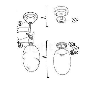 Flos Spare parts for Brera S Part no. 2