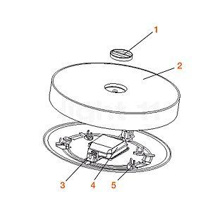 Flos Spare parts for Button FL Part no. 1: Screw Cap for Diffuser