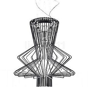 Foscarini Allegro Ritmico Sospensione LED schwarz