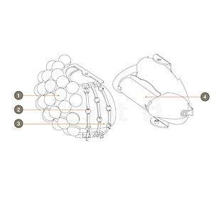 Foscarini Ersatzteile für Caboche Parete Teil Nr. 1: 10 Kugeln klar