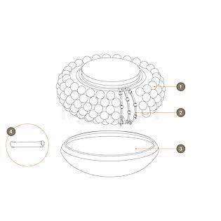 Foscarini Pièces détachées pour Caboche Soffitto pièce n°1 : 10 billes translucides claires