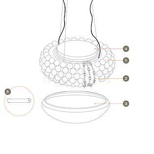 Foscarini Pièces détachées pour Caboche Sospensione pièce n°1 : 10 billes translucides claires