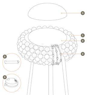 Foscarini Reserveonderdelen voor Caboche Terra Part no 6: dimmer for Caboche Terra