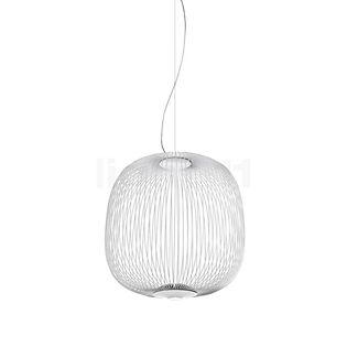 Foscarini Spokes 2 Midi Sospensione LED weiß