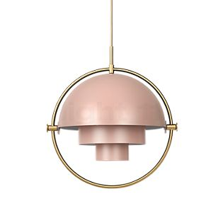 Gubi Multi-Lite Pendant light brass/pink