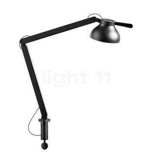HAY PC Double Arm Lampada da tavolo con morsetto a vite LED nero