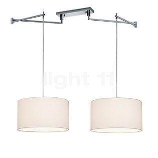HELESTRA Certo, lámpara de suspensión de 2 focos blanco, cilíndrico