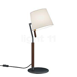 HELESTRA Lignea Lampe de table noir mat/bois de noyer