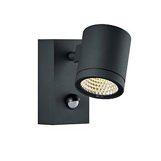 HELESTRA Part Lampada da parete LED con sensore di movimento grafite
