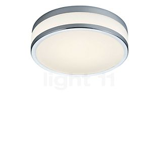 HELESTRA Zelo, lámpara de techo redonda LED con sensor de movimiento cromo