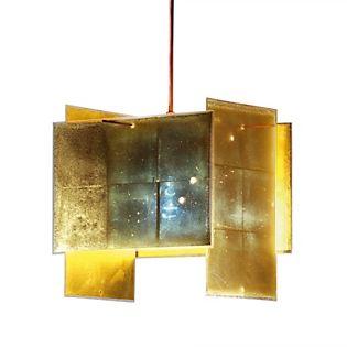 Ingo Maurer 24 Karat Blau 200 Lampada a sospensione dorato