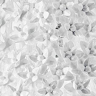 Kartell Bloom Pendelleuchte rund L weiß