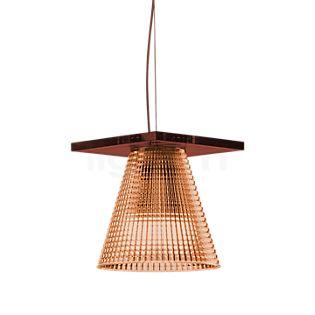 Kartell Light-Air Hanglamp roze met reliëf patroon