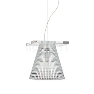 Kartell Light-Air Suspension verre clair avec motif en relief