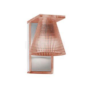 Kartell Light-Air Wandleuchte rosa mit Prägemuster
