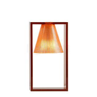 Kartell Light-Air, lámpara de sobremesa rosa con motivo en relieve