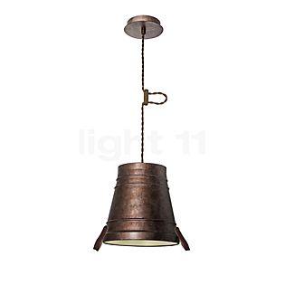 LEDS-C4 Bucket Hanglamp small bruin , uitloopartikelen