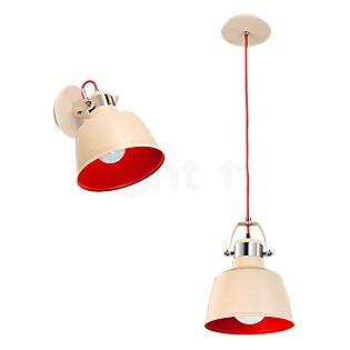 LEDS-C4 Vintage Loft-/Væglampe antrazit/rød