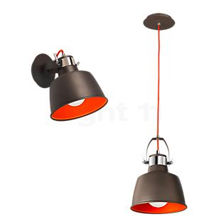 LEDS-C4 Vintage Wall-/Pendant light anthracite/red