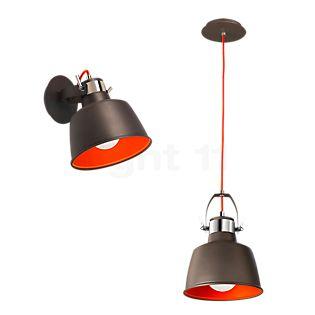 LEDS-C4 Vintage, lámpara de pared/suspensión antracita/rojo